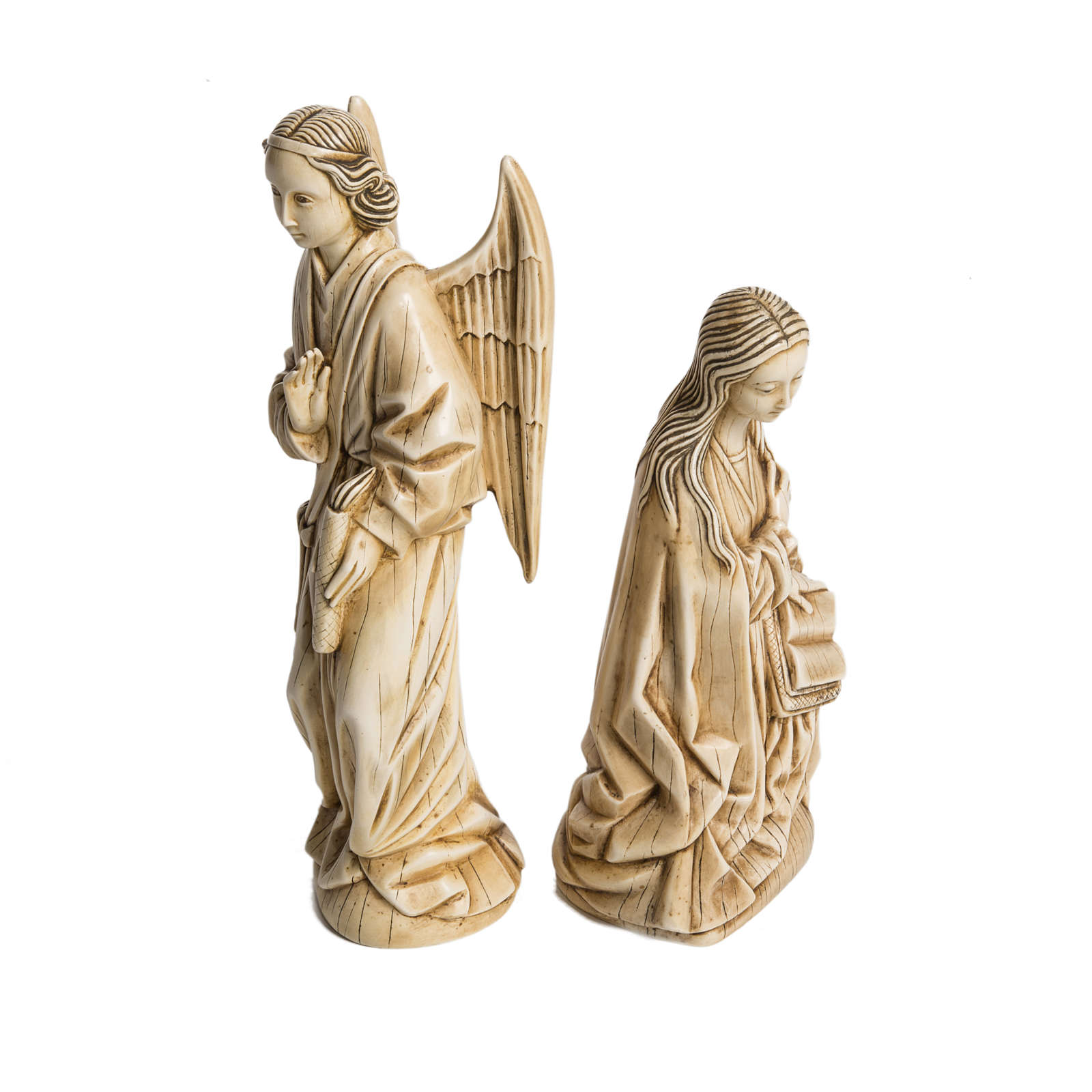 Annunciazione avorio pietra Bethléem 29 cm 4