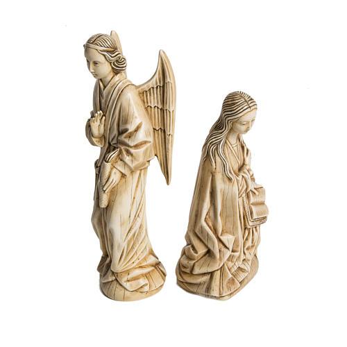 Annunciazione avorio pietra Bethléem 29 cm 2