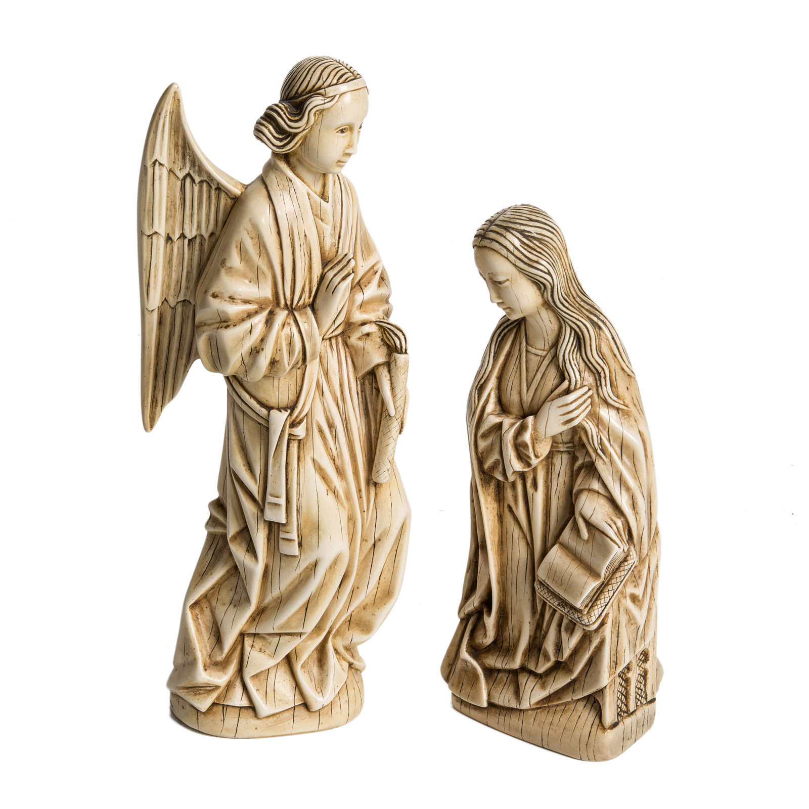 Anunciação marfim pedra Belém 29 cm 4