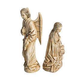 Anunciação marfim pedra Belém 29 cm s2