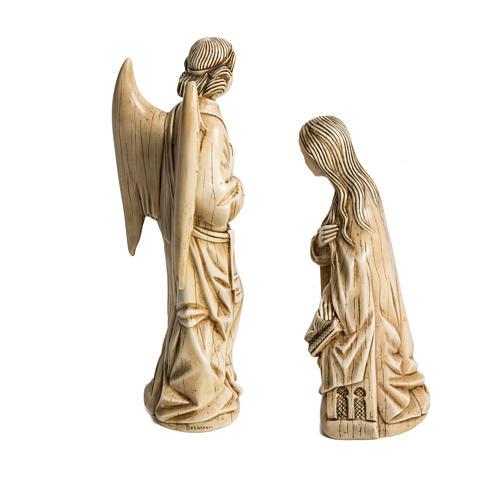 Anunciação marfim pedra Belém 29 cm 3