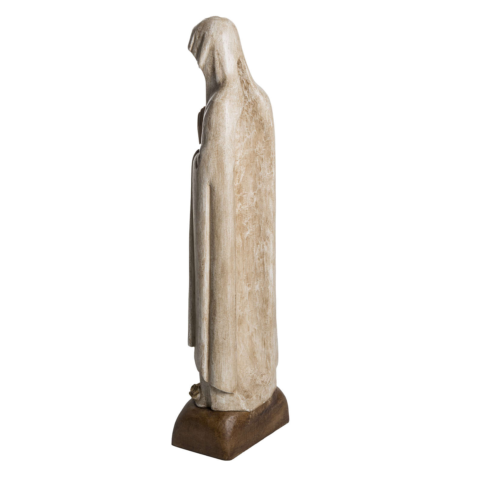 Madonna di Lourdes 76 cm pietra Bethléem 4