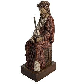Cristo oltraggiato 39 cm pietra Pirenei s2