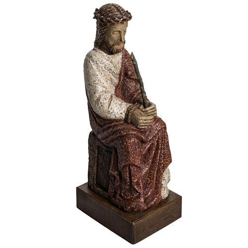 Cristo oltraggiato 39 cm pietra Pirenei 1