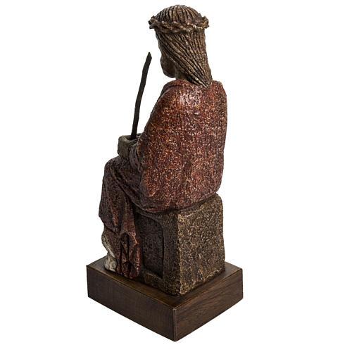Cristo oltraggiato 39 cm pietra Pirenei 3