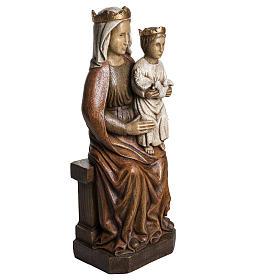 Madonna di Liesse 65 cm pietra Bethléem s2