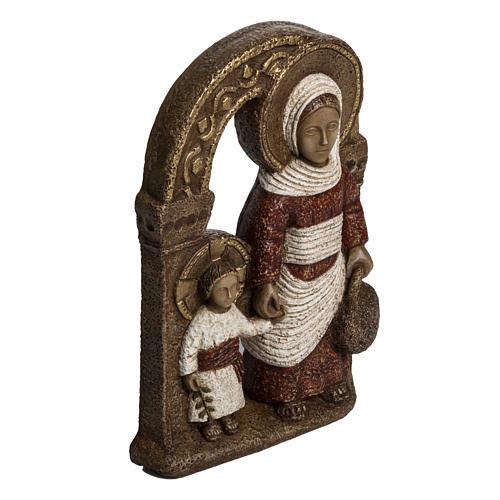 Virgen de Nazaret rojo 35cm  de piedra Bethléem 2