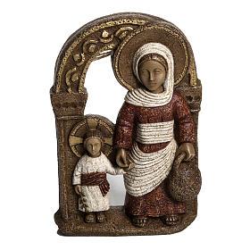Vergine di Nazareth rossa 35 cm pietra Bethléem s1