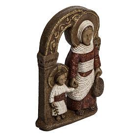 Vergine di Nazareth rossa 35 cm pietra Bethléem s2