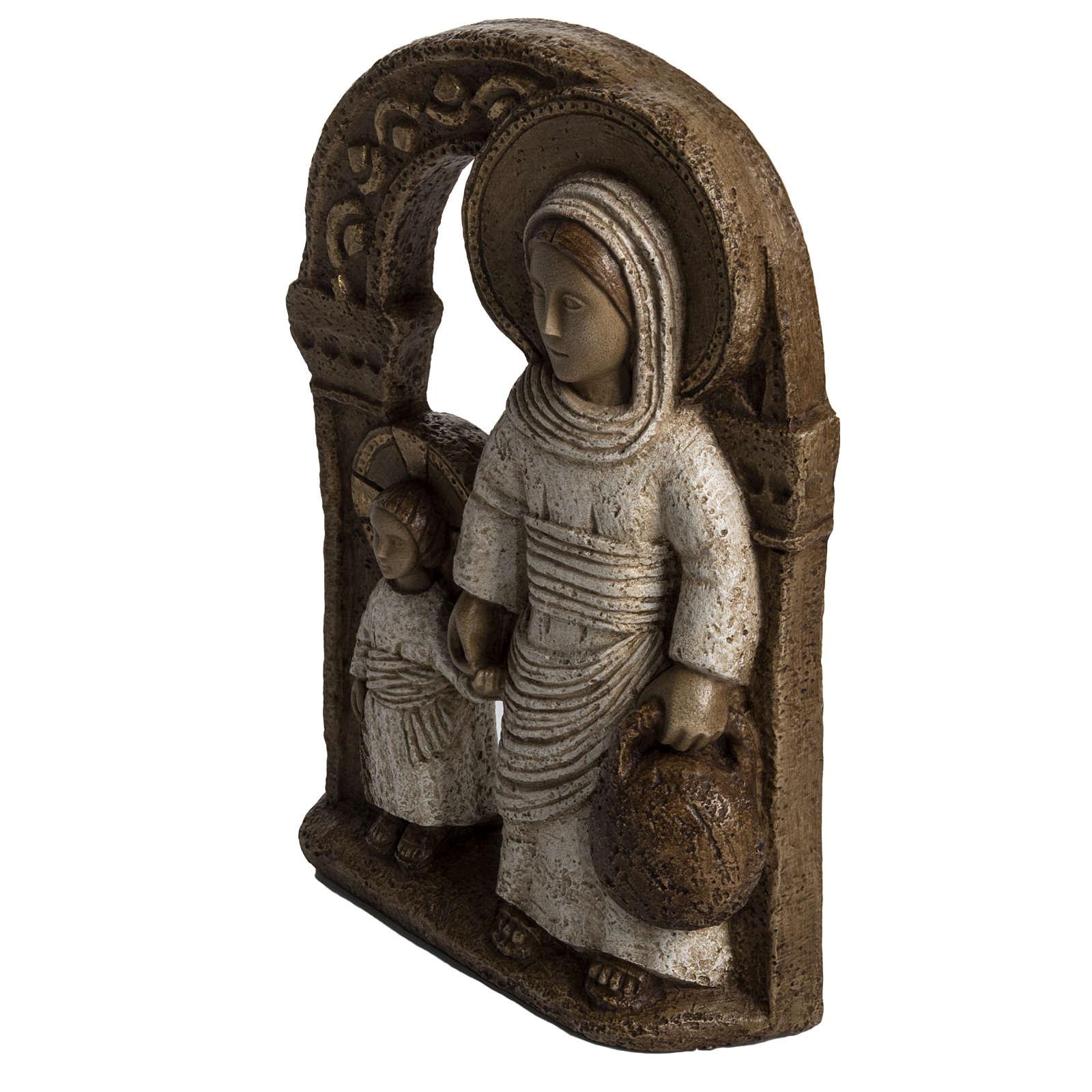 Mary of Nazareth in white stone, Bethléem 35cm 4