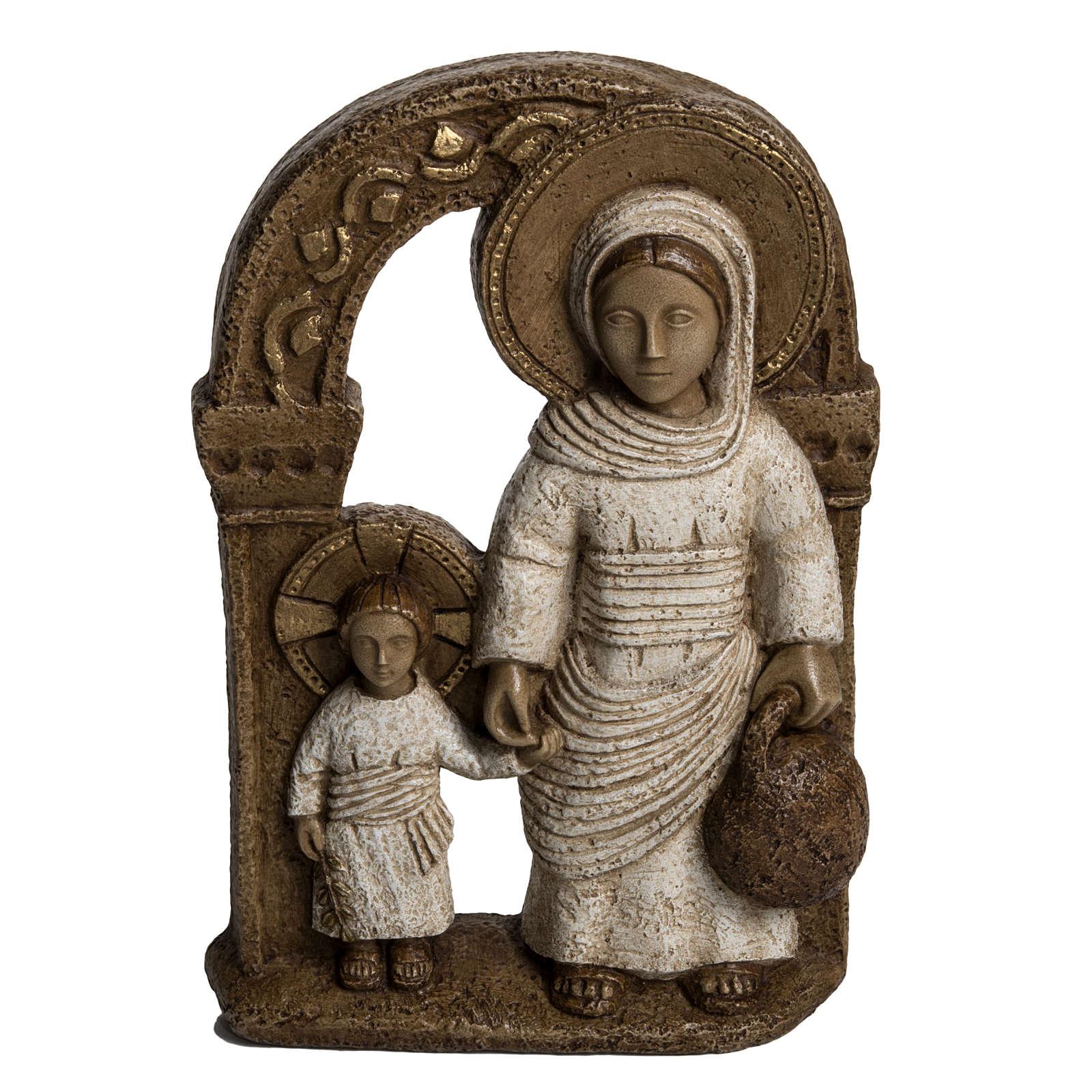 Virgen de Nazaret Blanca 35cm piedra Bethléem 4