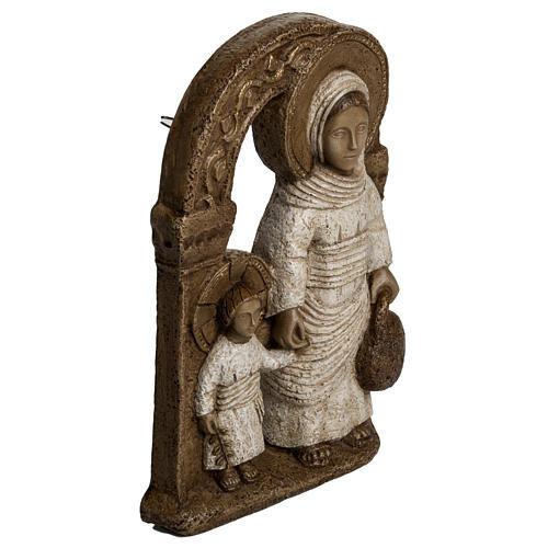 Virgen de Nazaret Blanca 35cm piedra Bethléem 2