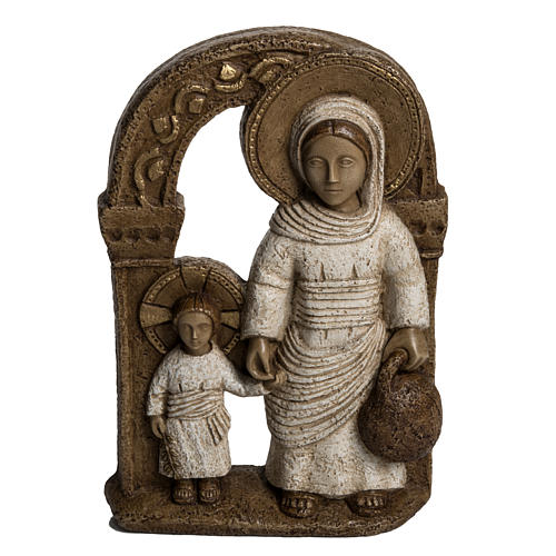 Vierge de Nazareth veste blanche 35 cm pierre Bethléem 1
