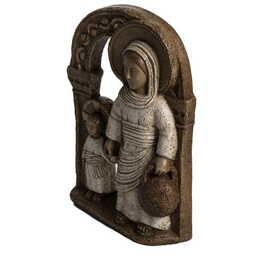 Vierge de Nazareth veste blanche 35 cm pierre Bethléem 3