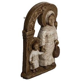 Vergine di Nazareth bianca 35 cm pietra Bethléem s2