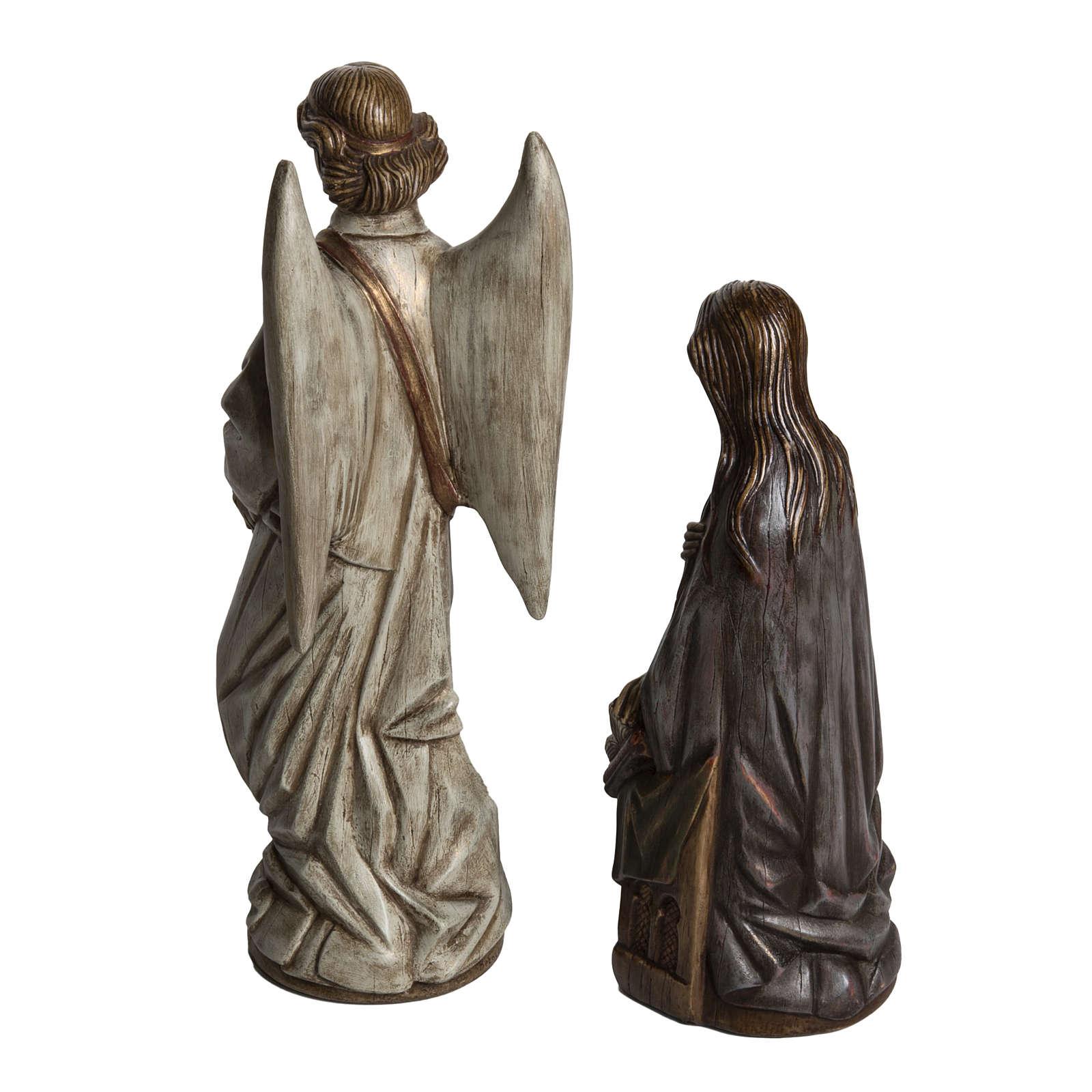 Annunciazione 29 cm pietra dei Pirenei Bethléem 4