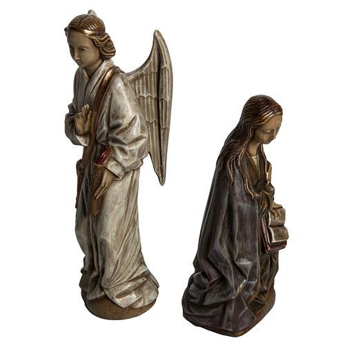 Annunciazione 29 cm pietra dei Pirenei Bethléem 2