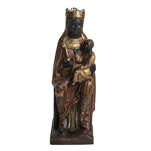 Madonna of Solsona in golden stone, Bethléem 54cm 1