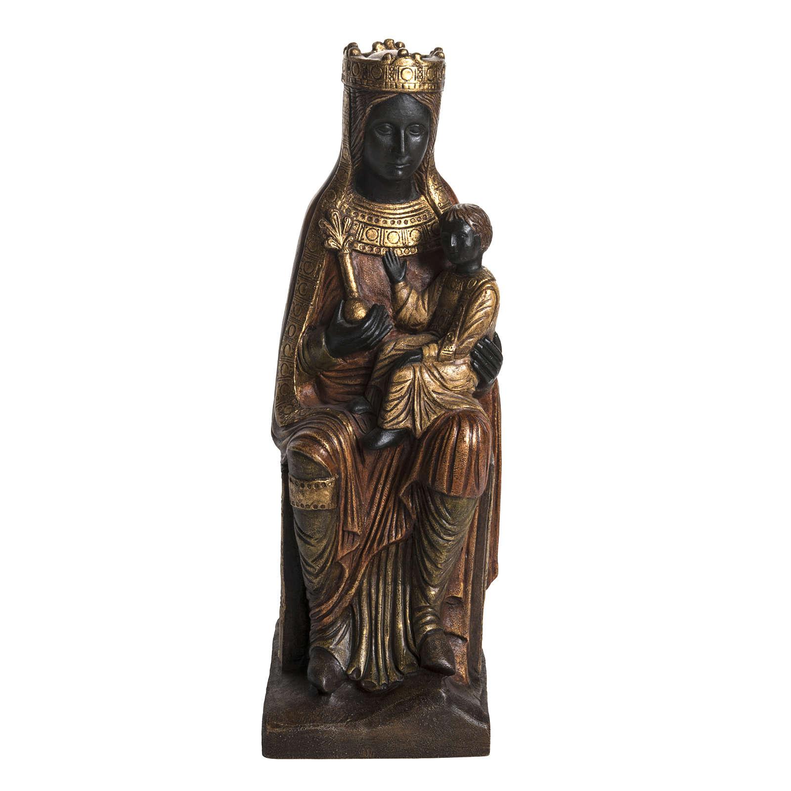 Vergine di Solsona (Catalana) pietra dorata 54 cm 4