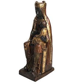 Vergine di Solsona (Catalana) pietra dorata 54 cm s3