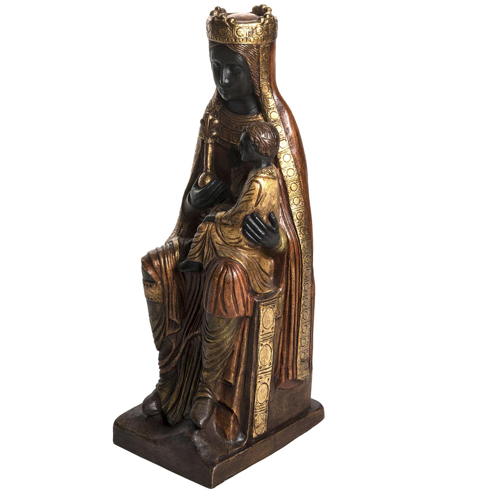 Madonna of Solsona in golden stone, Bethléem 54cm 4