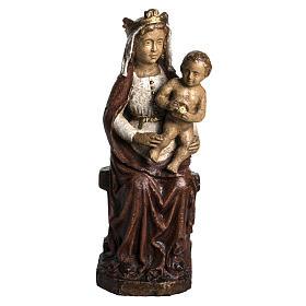 Vierge du XVII siècle 30 cm pierre Bethléem s1