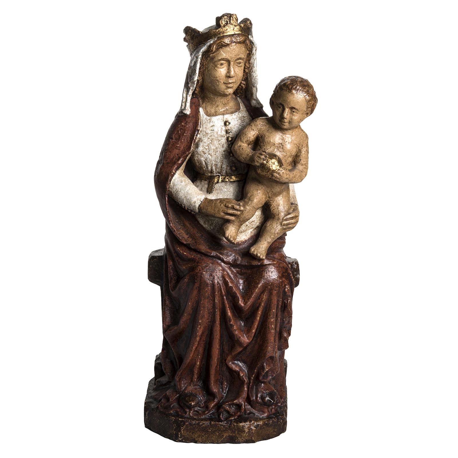 Madonna del XVII secolo 62 cm pietra Bethléem 4