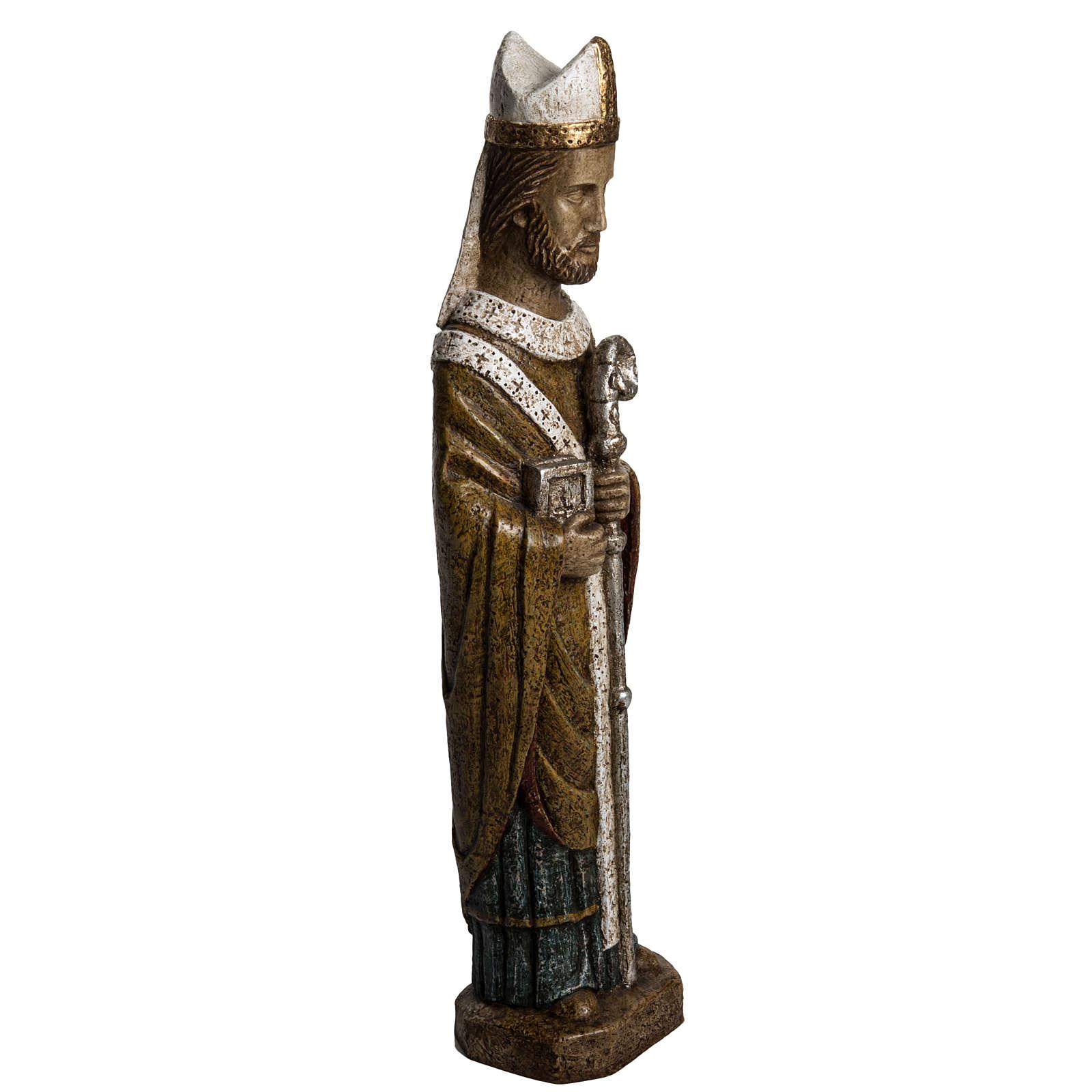 Saint Évêque 51 cm pierre Bethléem 4