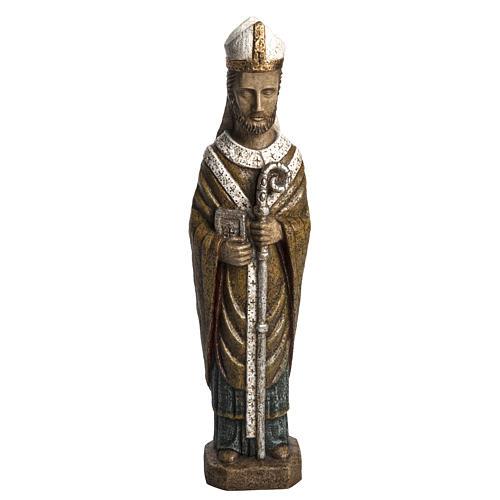 Saint Évêque 51 cm pierre Bethléem 1