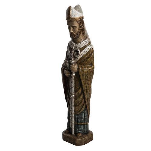 Saint Évêque 51 cm pierre Bethléem 3