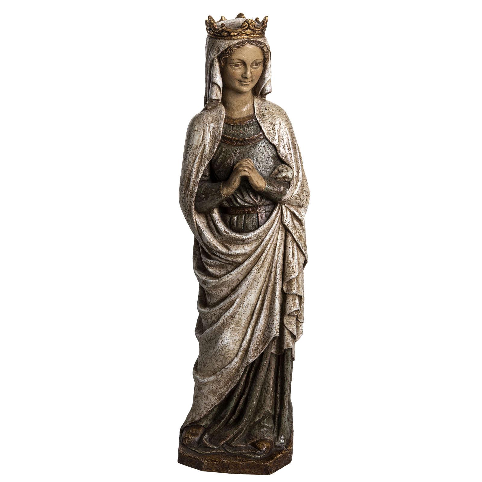 Virgen de la Anunciación 48cm de piedra Bethléem 4