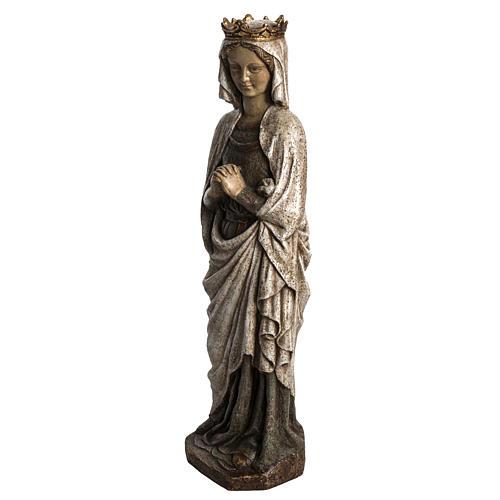 Virgen de la Anunciación 48cm de piedra Bethléem 3
