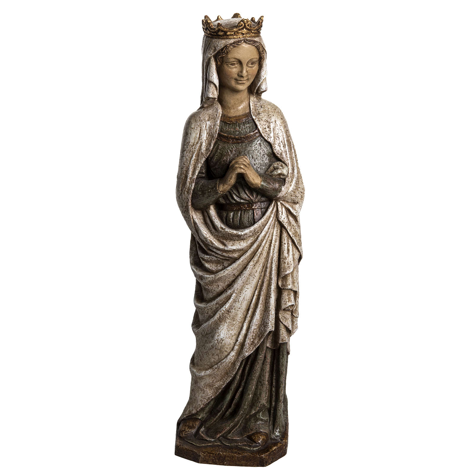 Madonna dell'Annunciazione 48 cm pietra dei Pirenei 4