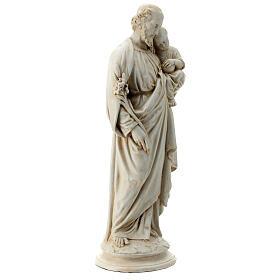 Saint Joseph with Baby Jesus in Pyrenees stone, Bethléem 61cm s5