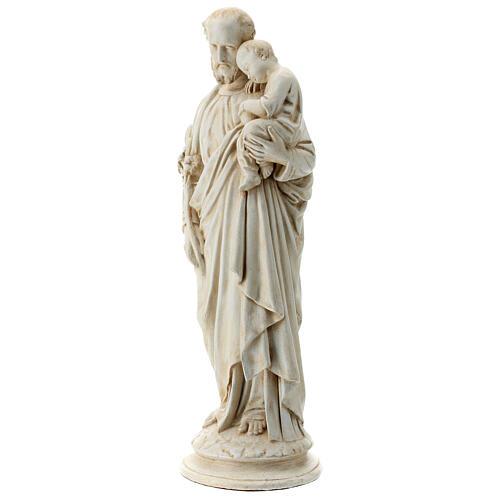 Saint Joseph with Baby Jesus in Pyrenees stone, Bethléem 61cm 3