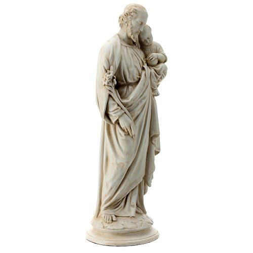 Saint Joseph with Baby Jesus in Pyrenees stone, Bethléem 61cm 5