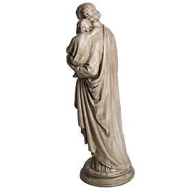 San Giuseppe con bambino 61 cm pietra dei Pirenei s4