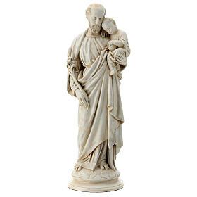San Giuseppe con bambino 61 cm pietra dei Pirenei