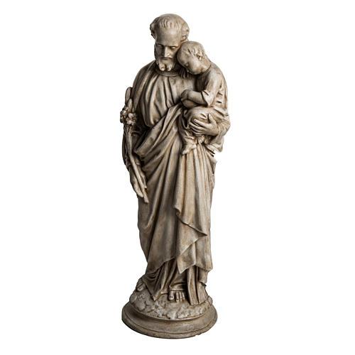 San Giuseppe con bambino 61 cm pietra dei Pirenei 3