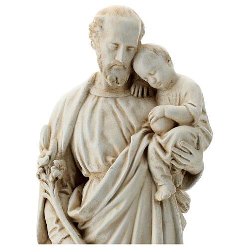 San Giuseppe con bambino 61 cm pietra dei Pirenei 2