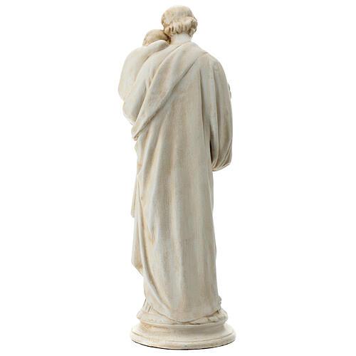 San Giuseppe con bambino 61 cm pietra dei Pirenei 6