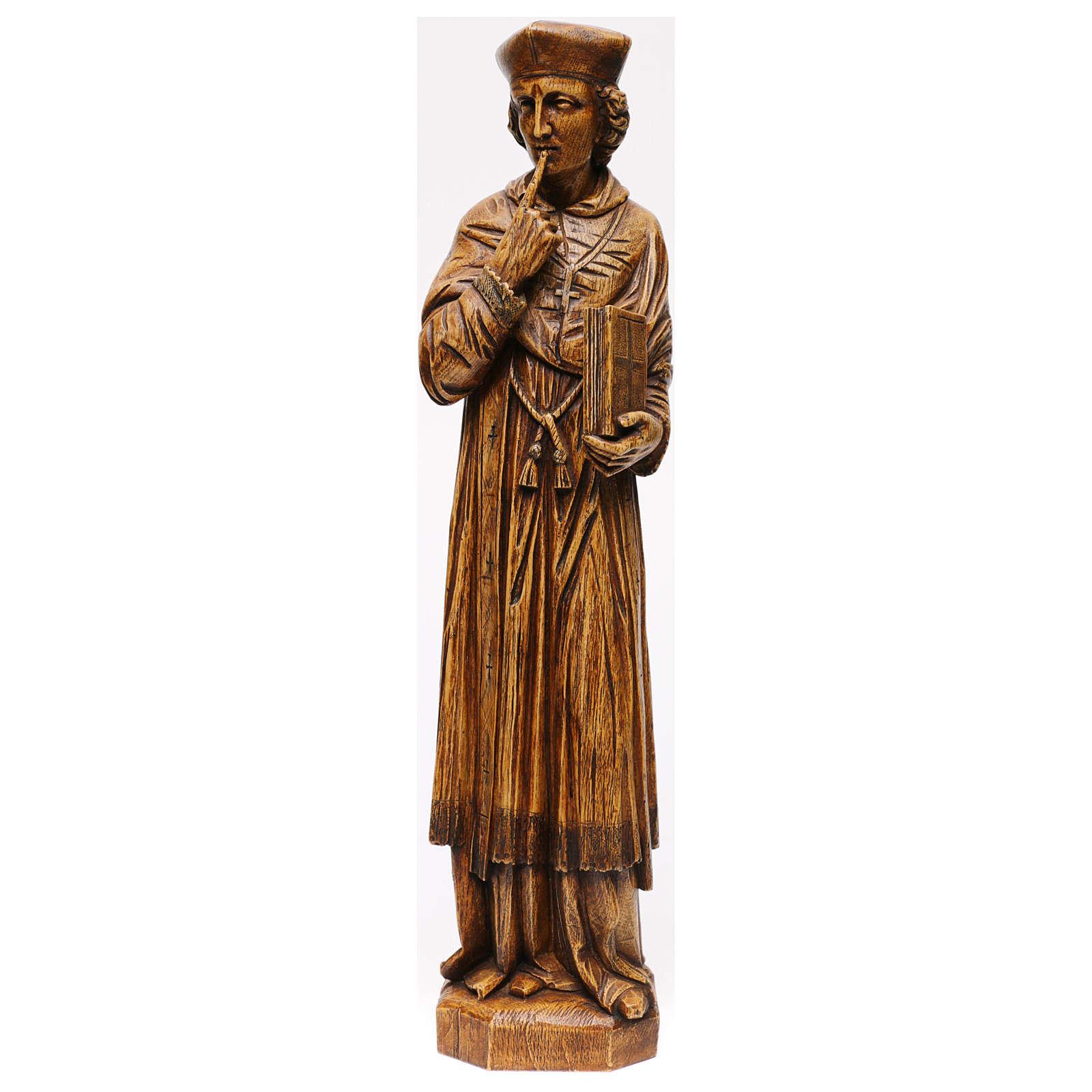 Saint Yves in stone, wood finish, Bethléem 63cm 4