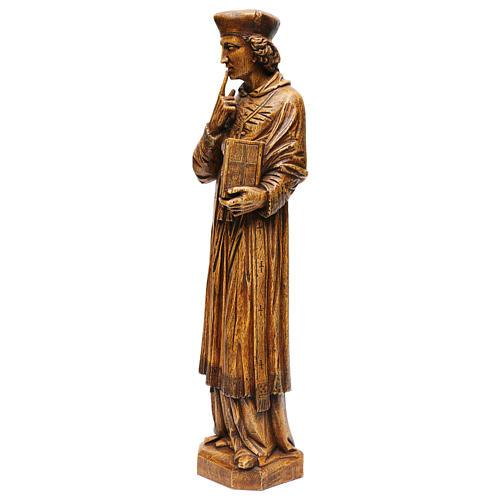 Saint Yves in stone, wood finish, Bethléem 63cm 3