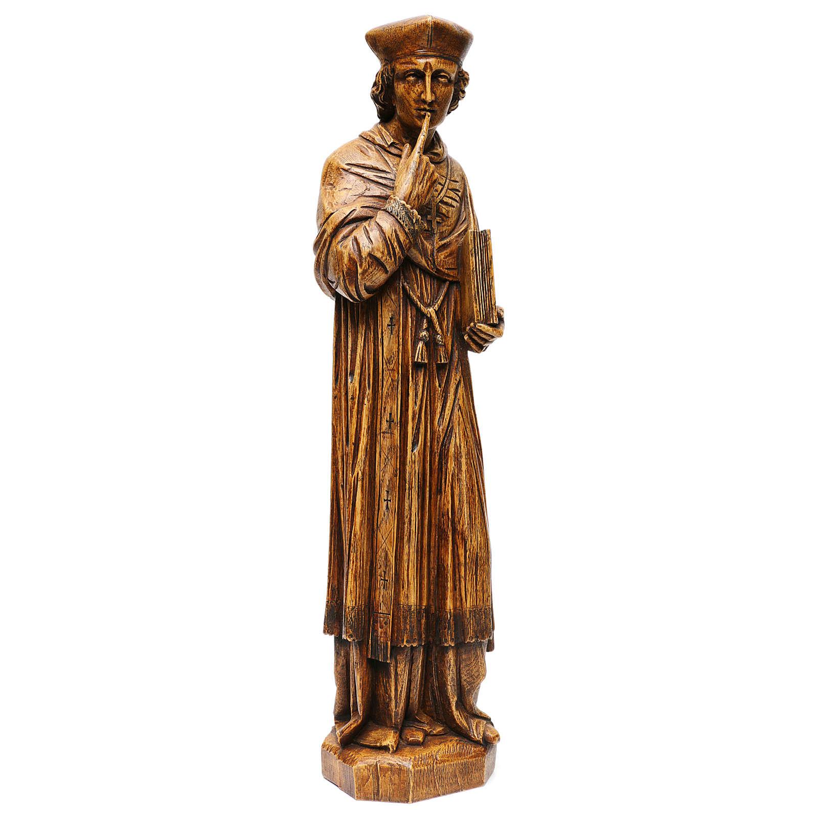 Saint Yves 63 cm pierre Bethléem finition bois 4
