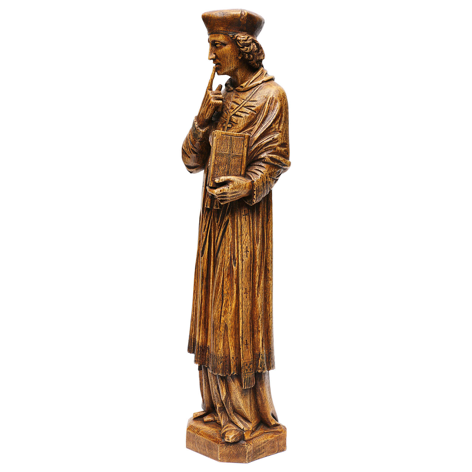 Saint Yves in stone, wood finish, Bethléem 63cm 4