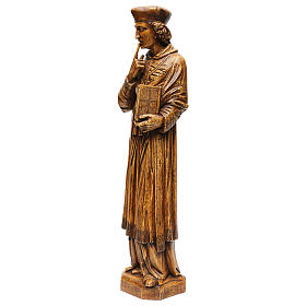 Saint Yves in stone, wood finish, Bethléem 63cm s3
