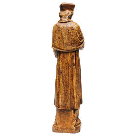 Saint Yves in stone, wood finish, Bethléem 63cm s5
