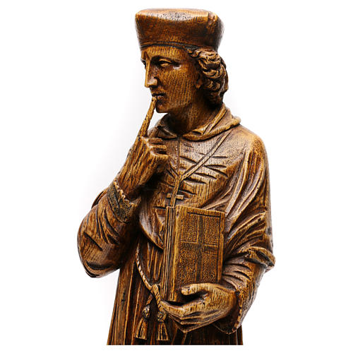 Saint Yves in stone, wood finish, Bethléem 63cm 2
