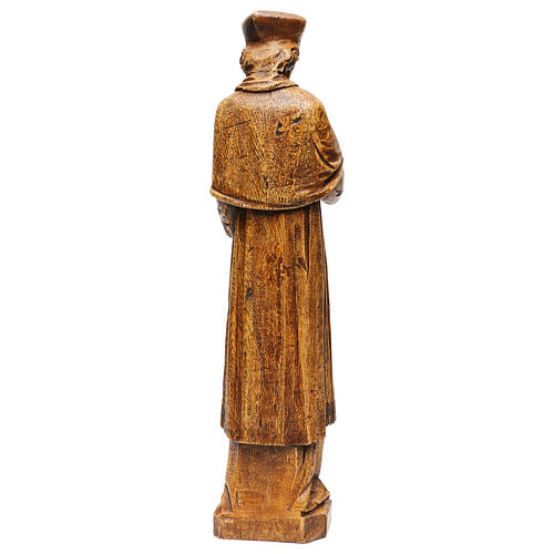 Saint Yves in stone, wood finish, Bethléem 63cm 5
