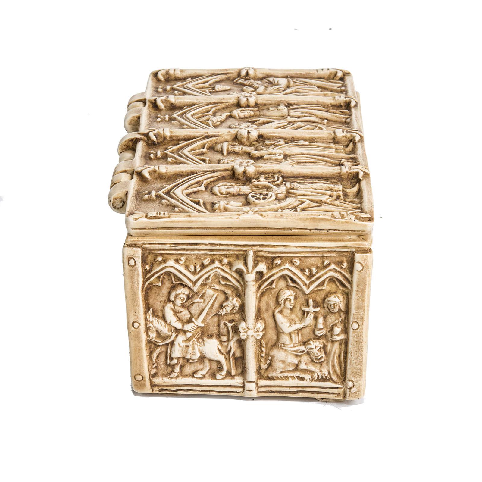 Cofre: relicario en Piedra de color marfil Bethléem 4
